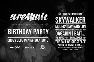 COREMUSIC B-DAY PARTY: 30. 4. 2015, Praha – Cross klub