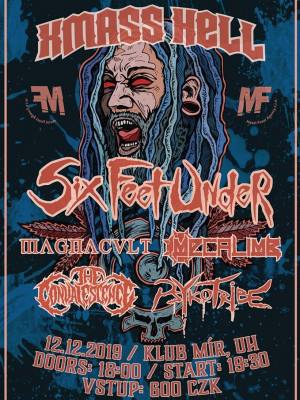 Six Feet Under (USA), MagnaCult (NL), Mecalimb (NOR), Psykotribe (USA)