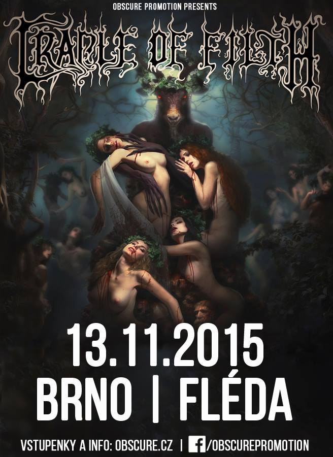 CRADLE OF FILTH (uk), NE OBLIVISCARIS (aus), TISÍC LET OD RÁJE