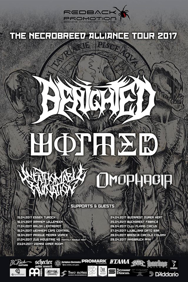 Benighted / Wormed / Unfathomable Ruination / Omophagia